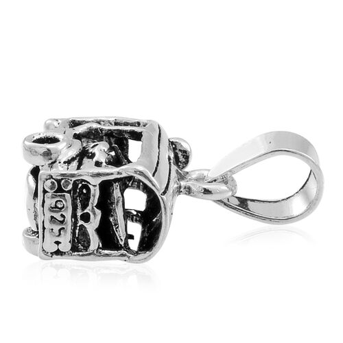 (Option 4) Thai Sterling Silver Tuk Tuk Pendant, Silver wt 3.92 Gms.