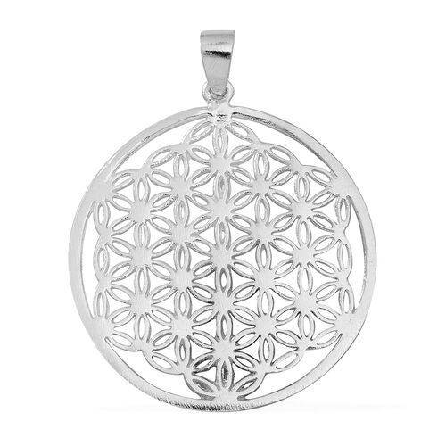 (Option 1) Thai Sterling Silver Floral Pendant, Silver wt 5.50 Gms.