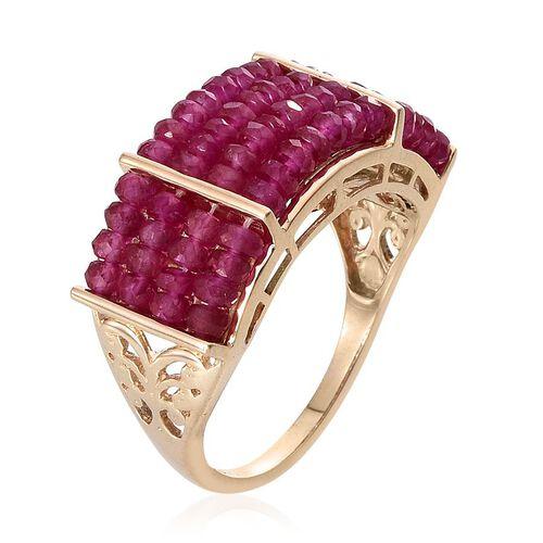 9K Y Gold Burmese Ruby (Rnd) Ring 15.000 Ct.