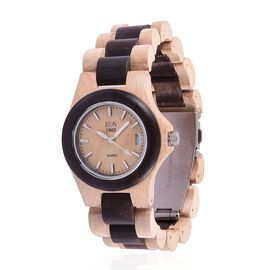 100% Natural Hand-Crafted Brazilwood and Maplewood - EON 1962 Japanese Movement Watch