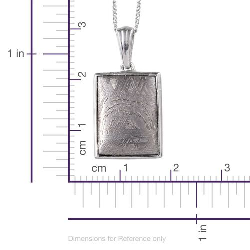 Meteorite (Bgt) Pendant With Chain in Platinum Overlay Sterling Silver 17.000 Ct.