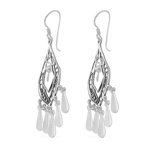 Thai Sterling Silver Chandelier Hook Earrings, Silver wt 4.00 Gms.