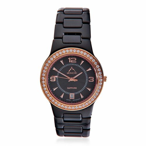 MONCHIC Parker Collection - Lady Rose Edition Swiss Precision Oscillation Stainless Steel Wrist Watch