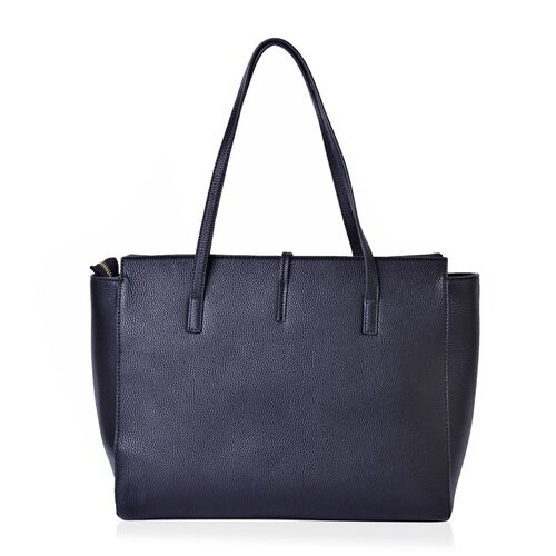 Black Colour City Carryall Big Size Tote Bag (Size 42x35x28x13 Cm)