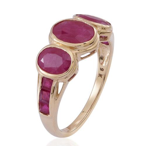 9K Y Gold Burmese Ruby (Ovl 1.40 Ct) Ring 4.000 Ct.