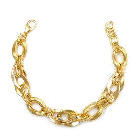 VIcenza Collection- Designer Inspired-  9K Y Gold Multi Link Bracelet (Size 8), Gold wt. 8.36 Gms.
