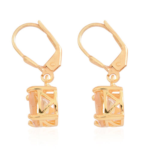 Citrine (Ovl) Lever Back Earrings in 14K Gold Overlay Sterling Silver 3.500 Ct.