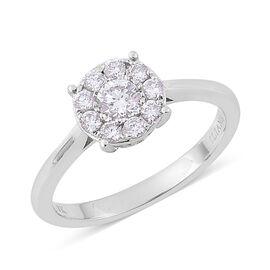 ILIANA 18K W Gold IGI Certified Diamond (Rnd) (SI/G-H) Ring 0.500 Ct.