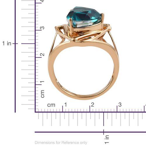 Capri Blue Quartz (Trl) Solitaire Ring in 14K Gold Overlay Sterling Silver 6.500 Ct.