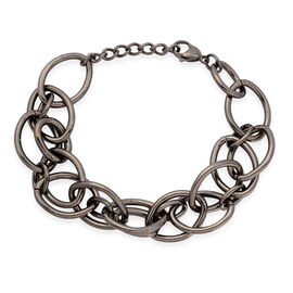 Bracelet in ION Plated Black Stainless Steel (Size 7.5)