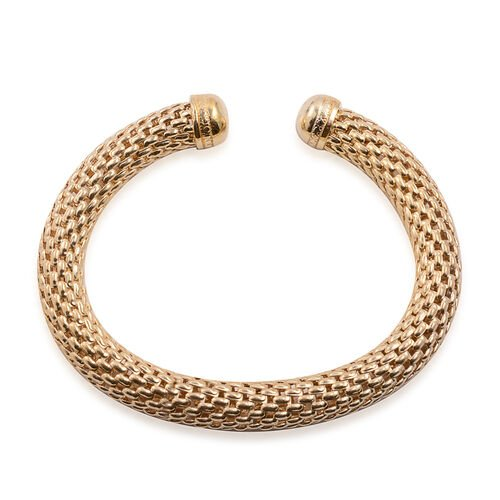 Close Out Deal Mesh Cuff Bangle in Gold Bond (Size 7.5)