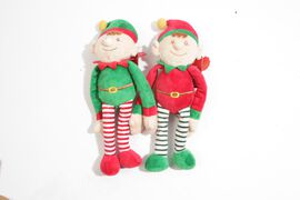 Keel - Pair of Green and Red Hat Elves (Size 20 Cm)
