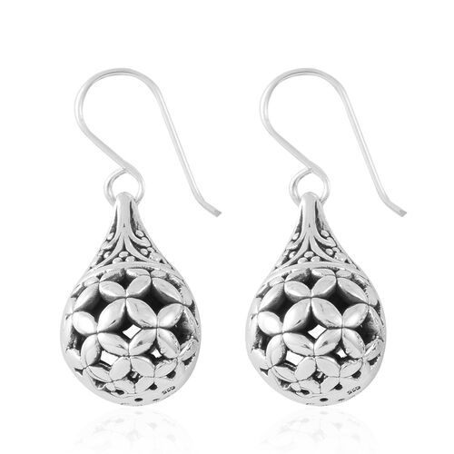 Sterling Silver Filigree Hook Earrings, Silver wt. 6.26 Gms.