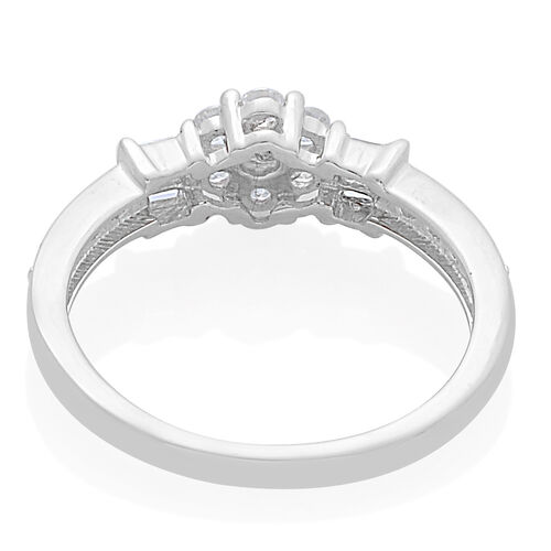9K White Gold 0.50 Carat Diamond Floral Ring SGL Certified I3 G-H
