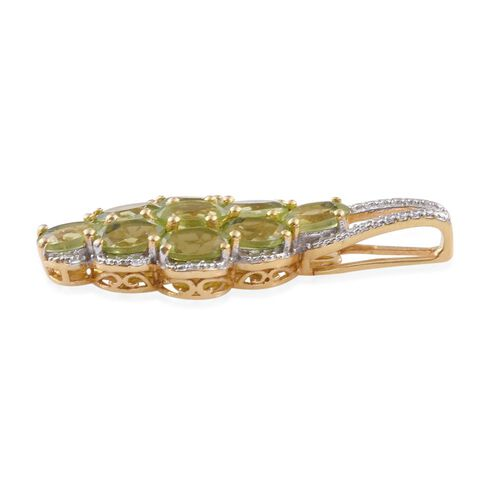 Nature Inspired - Hebei Peridot (Ovl) Pendant in 14K Gold Overlay Sterling Silver 4.500 Ct.