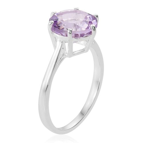 Rose De France Amethyst (Rnd) Solitaire Ring in Sterling Silver 3.500 Ct.
