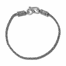 Mega Deal-Sterling Silver Rope Bracelet (Size 7.5), Silver wt 7.01 Gms.
