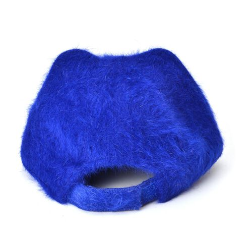 Blue Colour Cat Face Child Cap (Size 25 Cm)