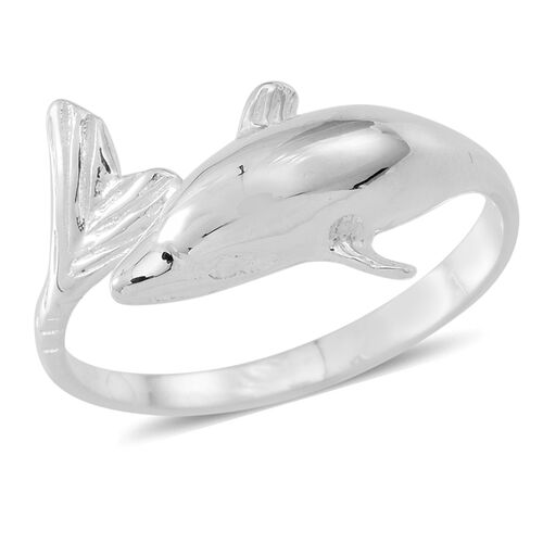 JCK Vegas Collection- Designer Inspired Sterling Silver Dolphin Ring