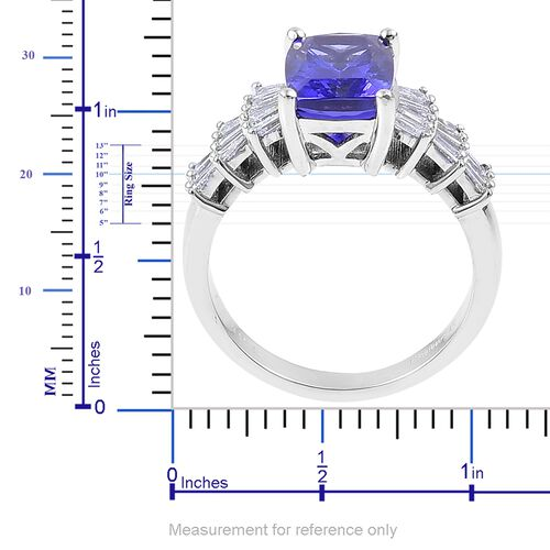 RHAPSODY 4.15 Ct AAAA Tanzanite and Diamond (VS/ E-F) Ring in 950 Platinum 7.50 gms