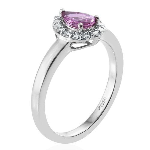 RHAPSODY 950 Platinum 1 Carat AAAA Pink Sapphire, Diamond (VS/E-F) Ring