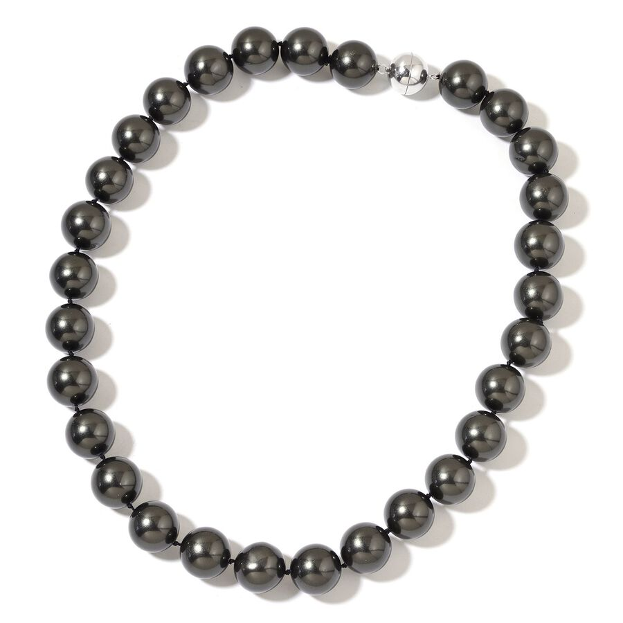 Rare Big Size Black Shell Pearl 16 Mm Ball Beads