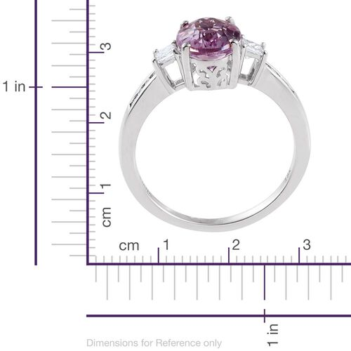 ILIANA 18K W Gold Kunzite (Ovl 3.15 Ct), Diamond Ring 3.500 Ct.