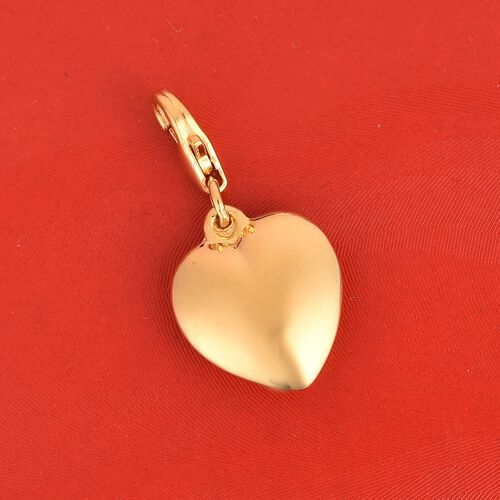Heart Charm in Gold Plated 925 Sterling Silver