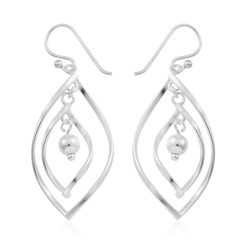 Thai Sterling Silver Dangle Hook Earrings, Silver wt. 5.31 Gms.