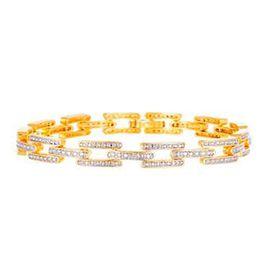 Diamond (Rnd) Bracelet (Size 7.5) in Yellow Gold Bond