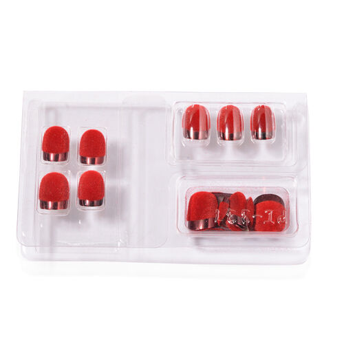 Red Colour Artificial Nails