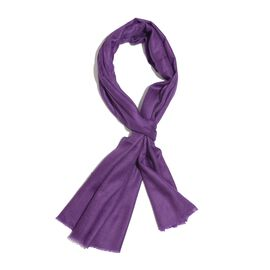 100% Cashmere Wool Purple Colour Shawl (Size 200x70 Cm)