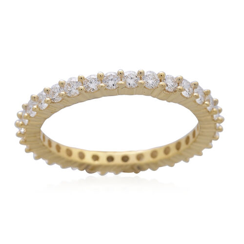ILIANA 18K Y Gold IGI Certified Diamond (Rnd) (SI/G-H) Full Eternity Ring 1.000 Ct.