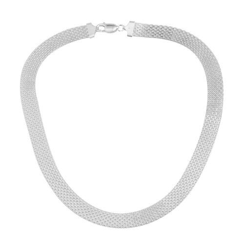 Sterling Silver Bismark Necklace (Size 18), Silver wt. 22.70 Gms.