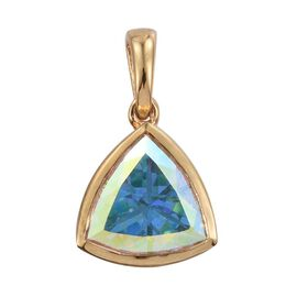 Mercury Mystic Topaz (Trl) Solitaire Pendant in 14K Gold Overlay Sterling Silver 5.000 Ct.