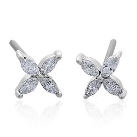 Last in Stock - RHAPSODY 950 Platinum SGL Certified Diamond (Mrq) (VS/E-F) Stud Earrings (with Screw Back) 0.250 Ct.