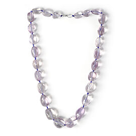 Amethyst Necklace (Size 24) in Sterling Silver 577.500 Ct.