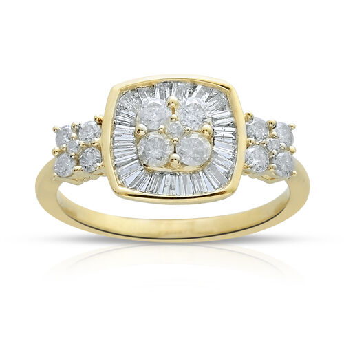 9K Y Gold SGL Certified Diamond (Rnd) (I3/G-H) Ring 1.000 Ct.