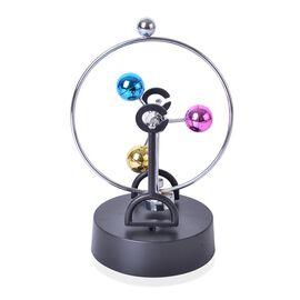 Home Decor - Multi Colour Balance Ball Desk Toy with 3 Balls (Size 20.5X10.5 Cm)
