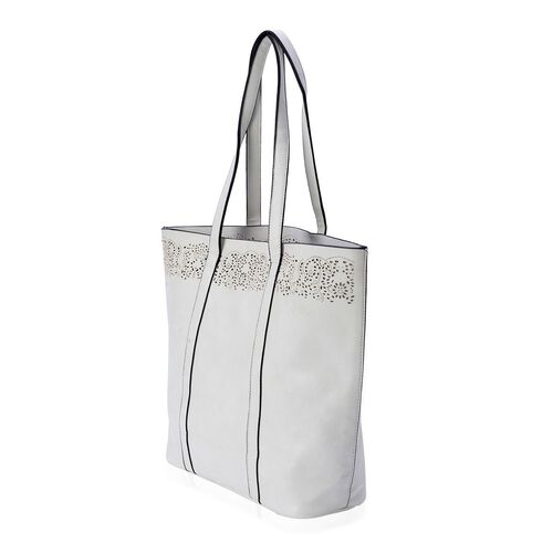 Cream Colour Tote Bag (Size 43.5x35x32x12 Cm)