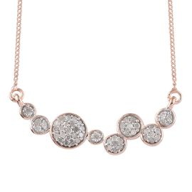 Diamond (Rnd) Necklace with Chain in Rose Gold Overlay Sterling Silver 0.300 Ct.