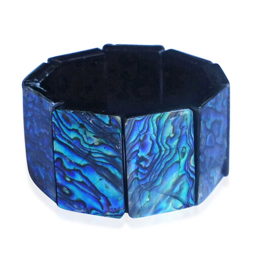 Bali Collection Rare Size Abalone Shell Stretchable Bracelet (Size 7.5)