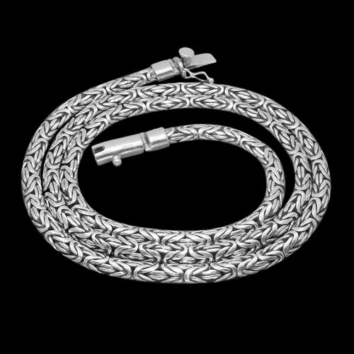 Royal Bali Collection Sterling Silver Borobudur Necklace (Size 30), Silver wt 105.00 Gms.