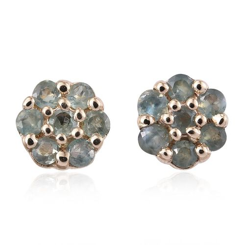 9K Y Gold Narsipatnam Alexandrite (Rnd) Floral Stud Earrings (with Push Back) 0.500 Ct.