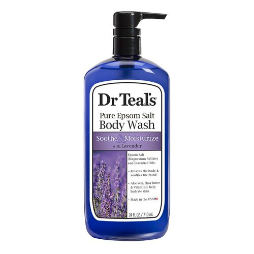 Dr Teals  Pure Epsom Salt Body Wash  Soothe and Sleep with Lavender  710 ml