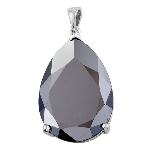 Limited Edition-J Francis Swarovski - Silver Ice Crystal (Pear) Pendant in Platinum Overlay Sterling Silver