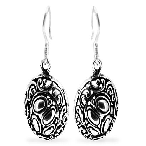 Thai Sterling Silver Hook Earrings, Silver wt 4.87 Gms.