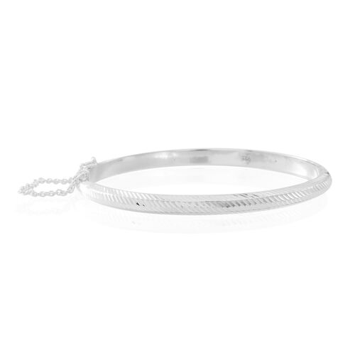 Thai Sterling Silver Bangle (Size 7.5), Silver wt 8.00 Gms.