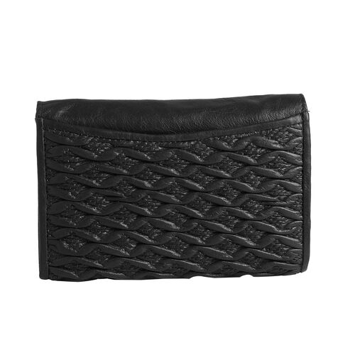100% Genuine Leather RFID Blocker Black Colour Wallet with Multiple Card Slots (Size 15.25X10.15X2.5 Cm)
