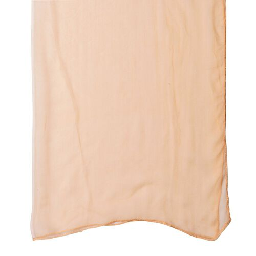 Pantone Collection - 100% Mulberry Silk Iced Coffee Colour Scarf (Size 170X70 Cm)